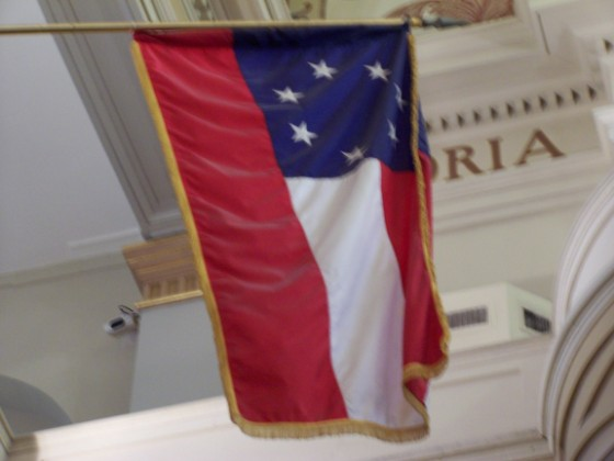 First National Confederate Flag currently displayed in the St. Louis Cathedral