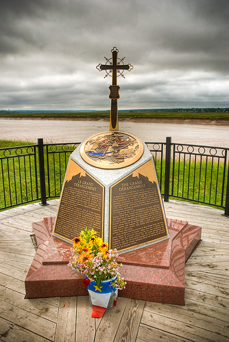 Le Grand Deportation Memorial Cross at Grand-Pré